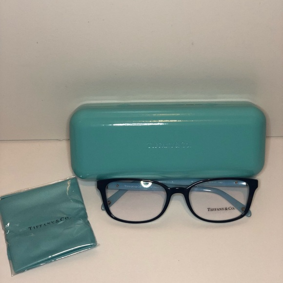 c2bcfa51fec TIFFANY TF2094 8134 Gold Lock Havana Blue Glasses